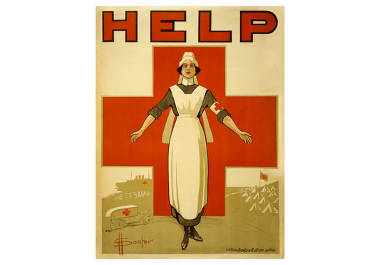 A recruiting poster for Australian nurses from World War I.